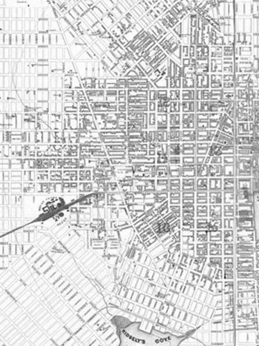 old map of West Baltimore Maryland